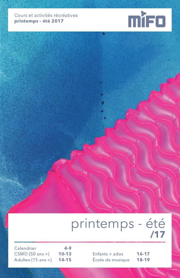 Brochure des cours et activités du printemps-été 2017