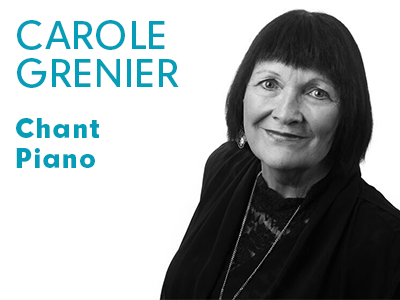 Carole Grenier - chant et piano