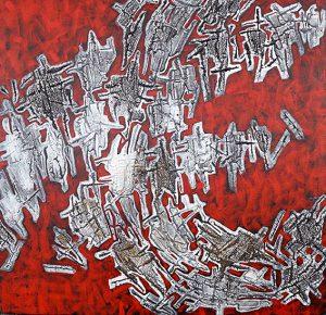 Oeuvre Je t'écris de l'artiste visuelle Josée Prud'homme