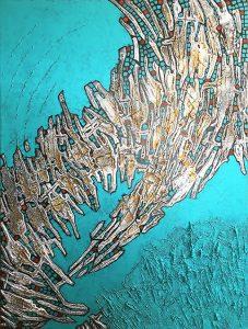 Oeuvre La Déferlante 1 de l'artiste visuelle Josée Prud'homme