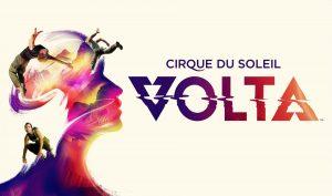 Affiche pour le spectacle VOLTA du Cirque du Soleil
